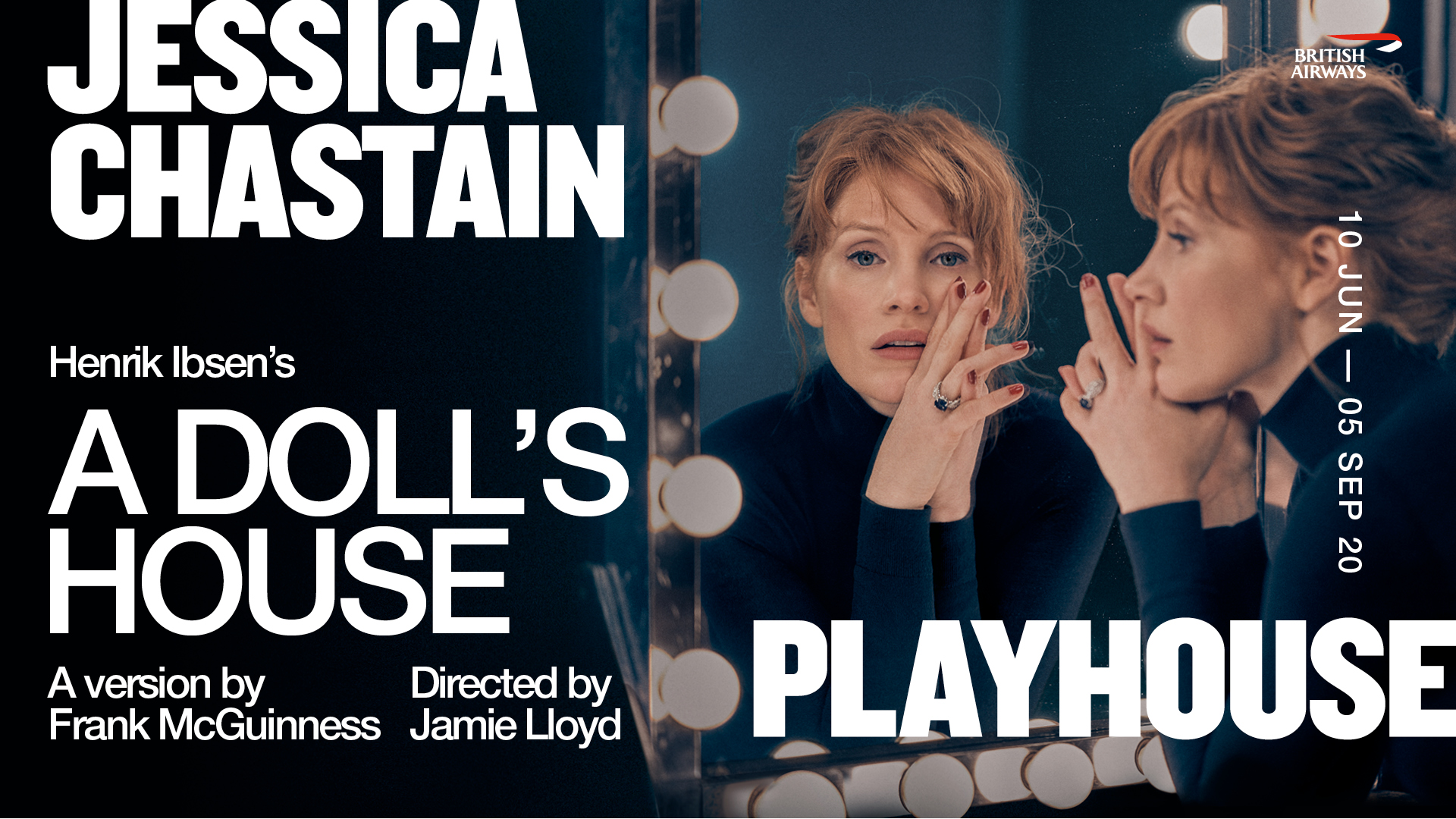 Title artwork for A Doll's House starring Jessica Chastain and directed by Jamie Lloyd