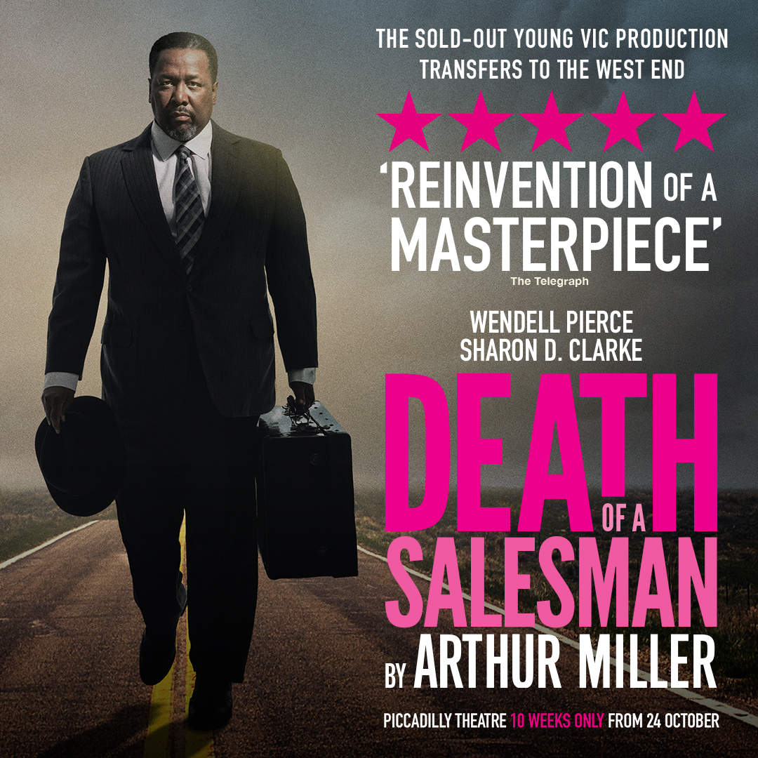 Death of a salesman official title artwork featuring wendell pierce