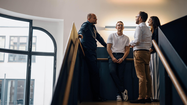 Gespräch Immobilienmakler