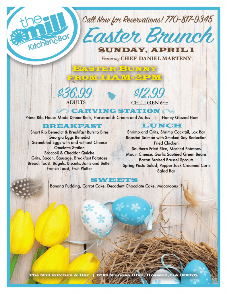 Easter Brunch at the Mill