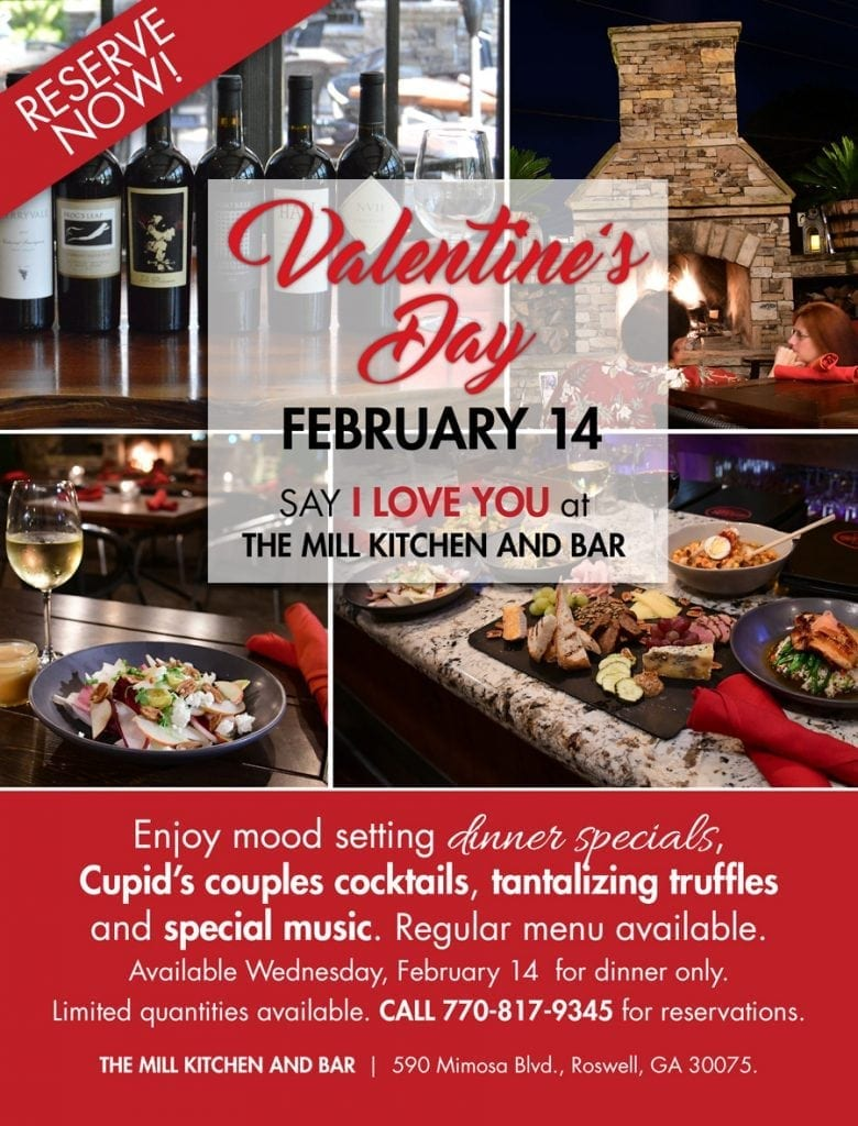 Valentine's Day at the mill kitchen and bar