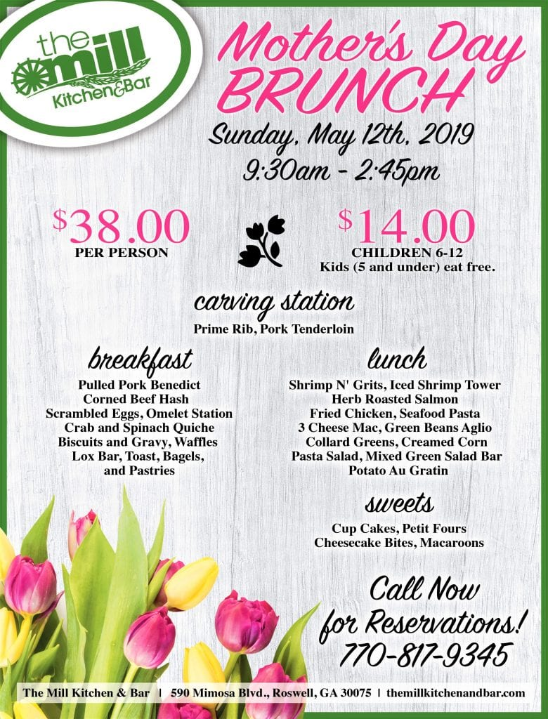 mill kitchen mother's day brunch