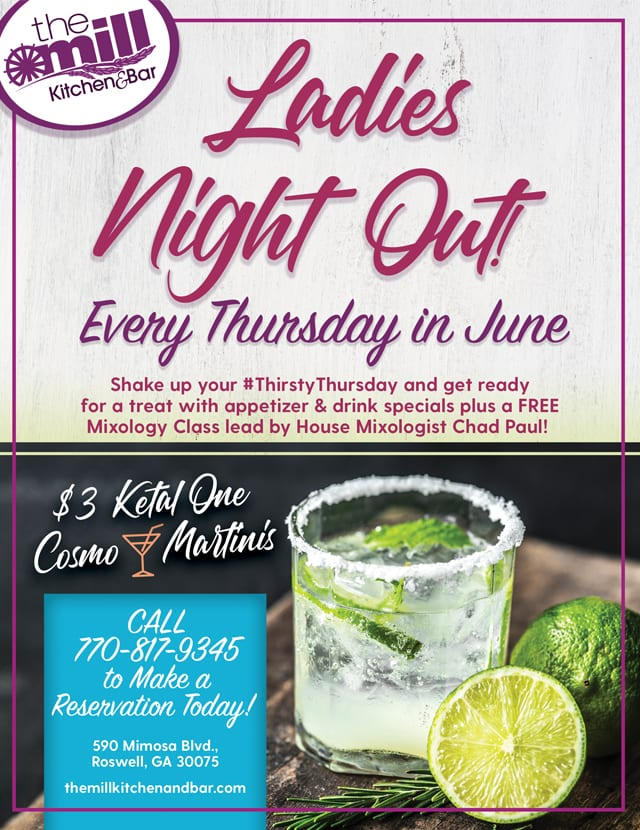 ladies night out the mill kitchen
