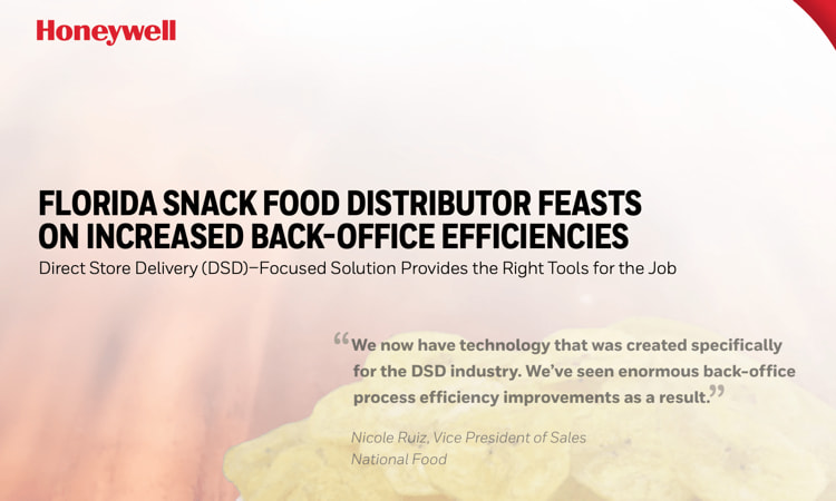 Florida Snack Food Distributor & Integrasys Featured in Honeywell Case Study