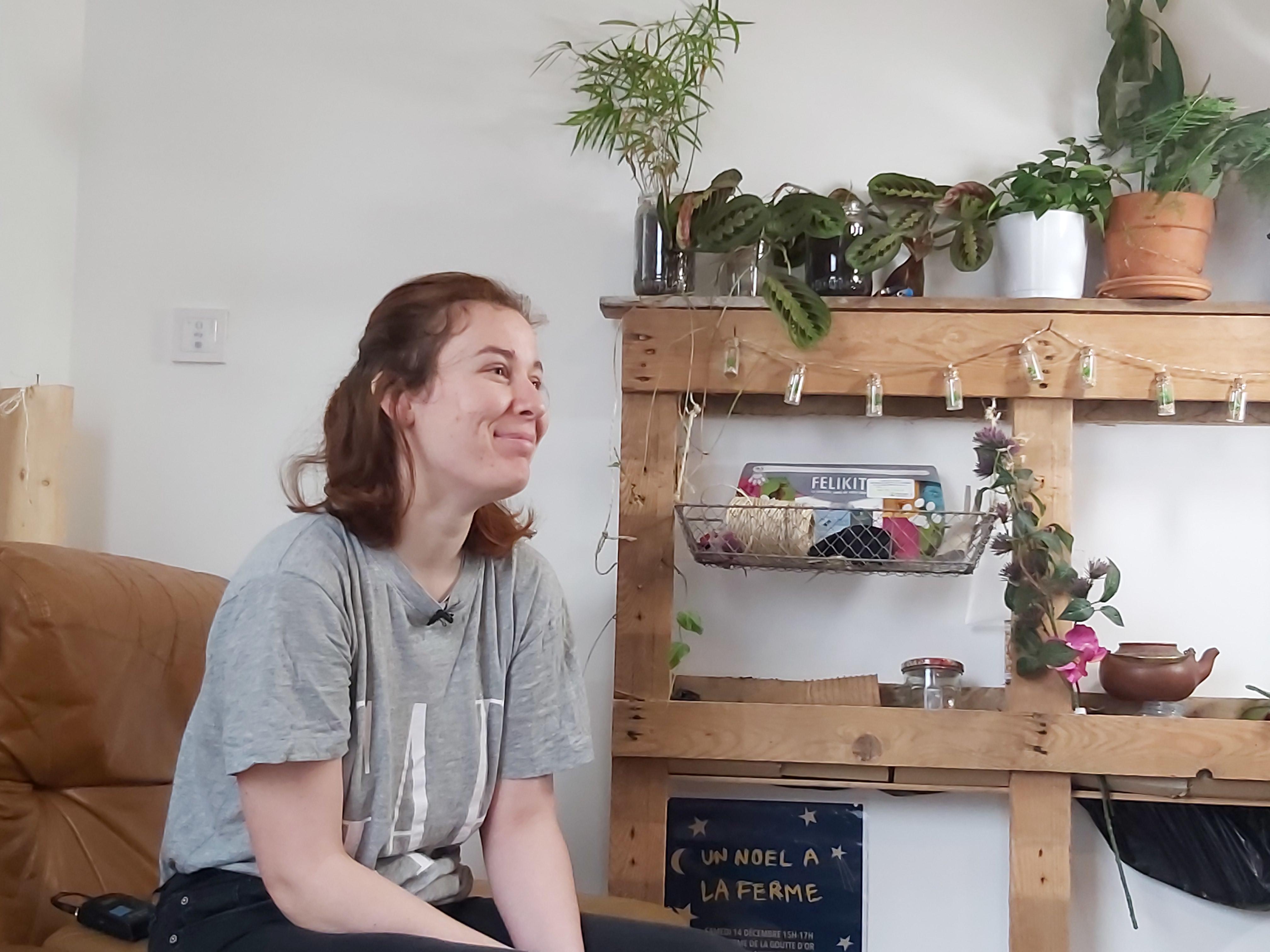Leslie en colocation dans une colocation à projet solidaire de l'AFEV