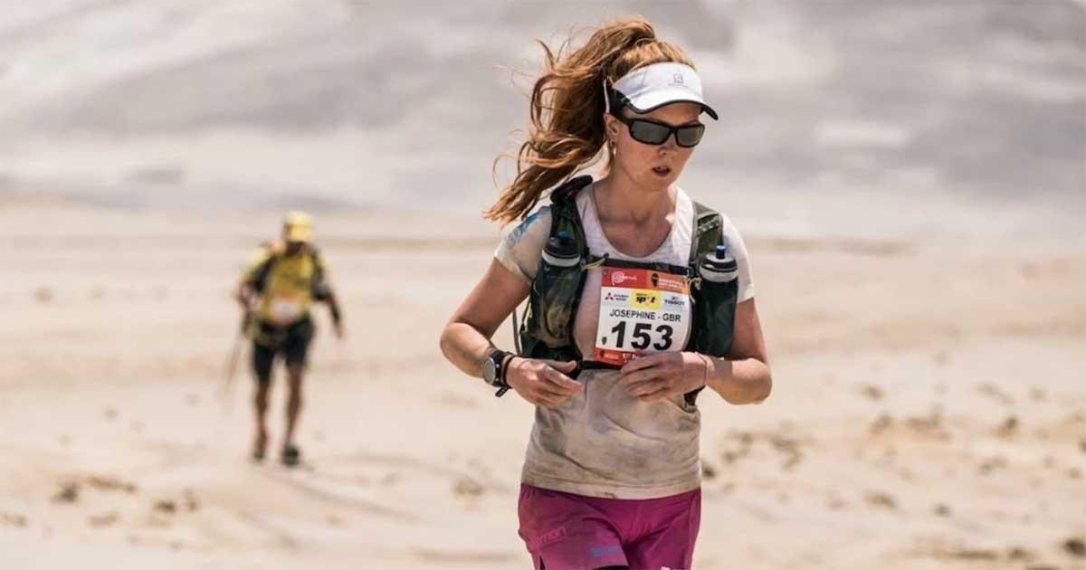 Picture of Josie running through a desert