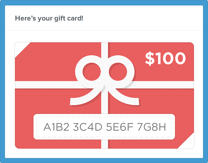discount coupon generator - gift cards campaigns