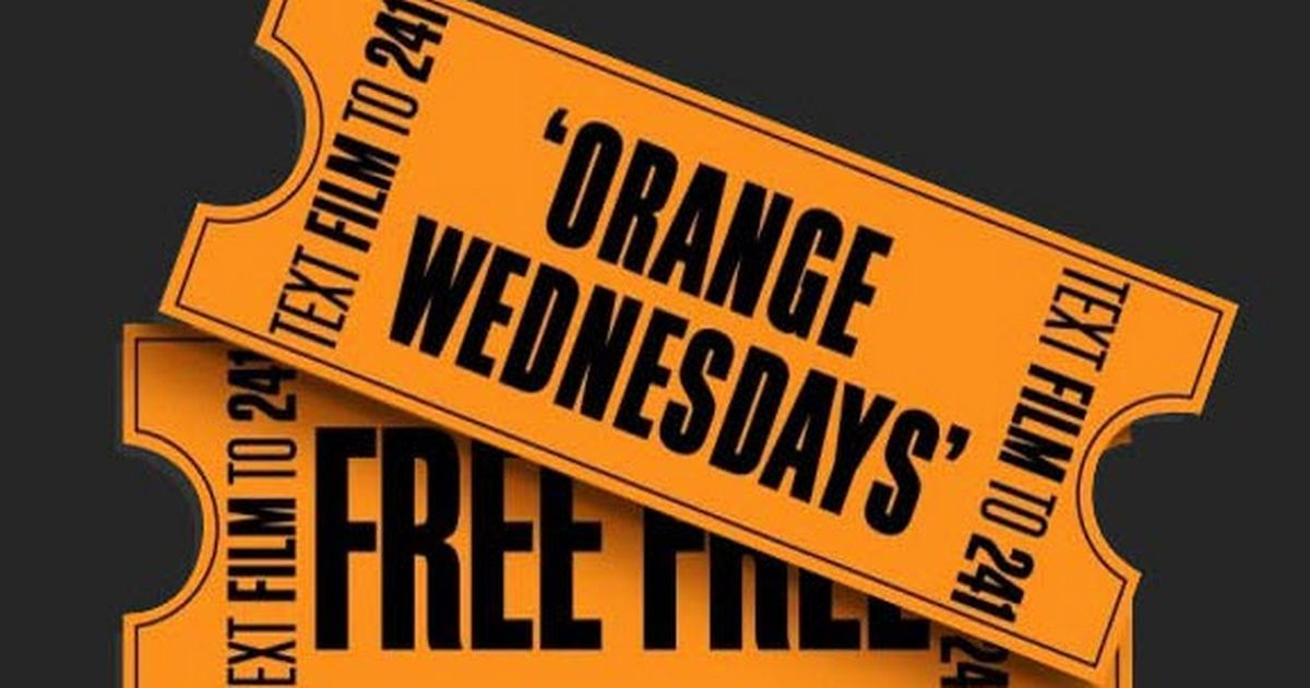 """Orange Wednesdays"" Example of happy hours marketing in cinemas"