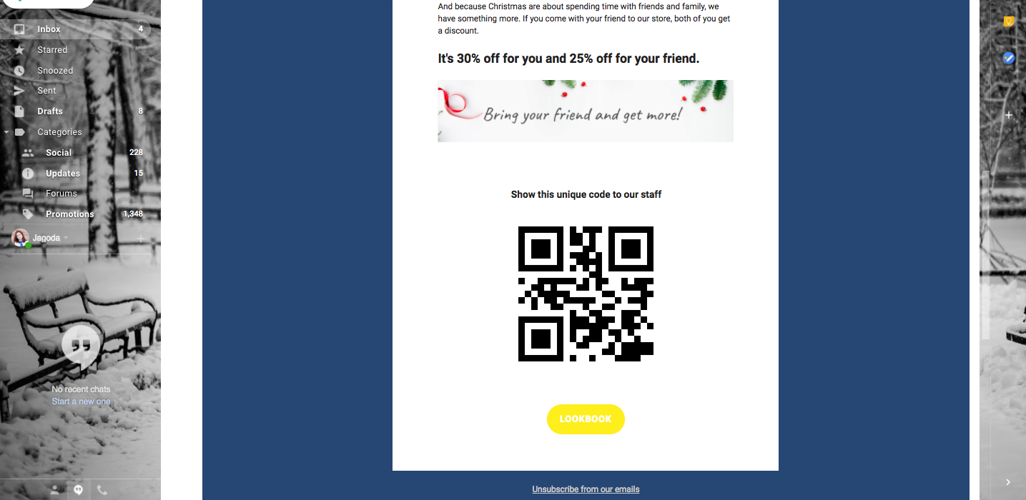 Christmas cards with individual customer codes for tracking 6