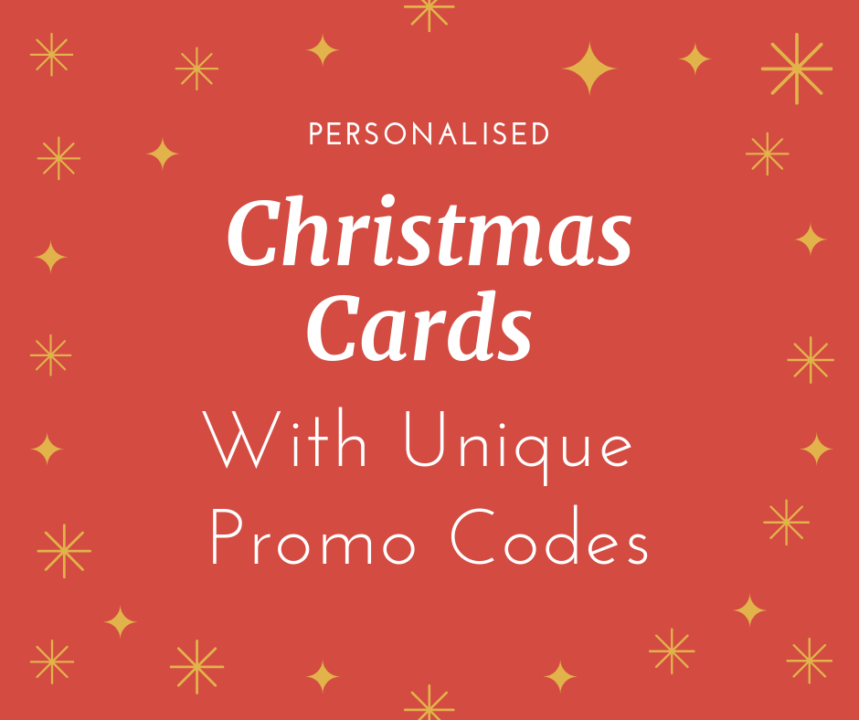 Personalised Christmas Cards With Unique Promo Codes