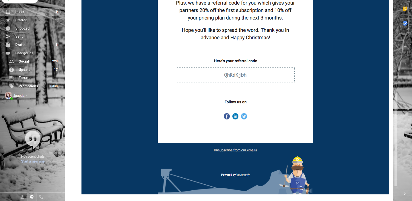 Christmas cards with individual customer codes for tracking 4