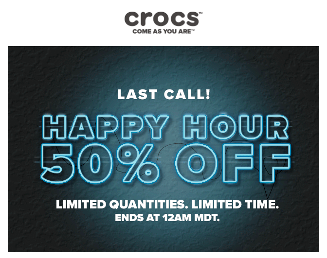 Crocs Happy Hours