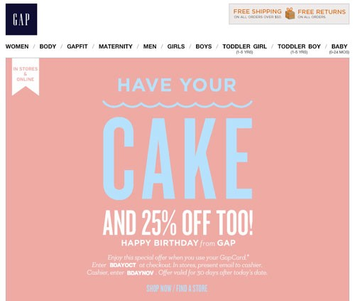 Birthday coupons - discount coupon generator