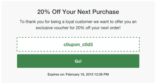 discount coupon generator - loyalty vouchers