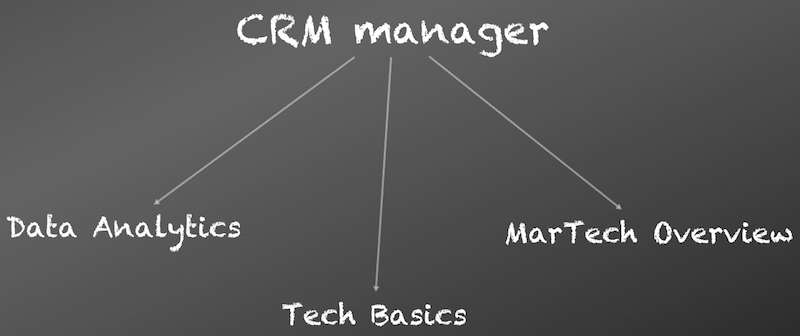 CRM Manager basics - data analytics, technical knowledge, MarTech Overview