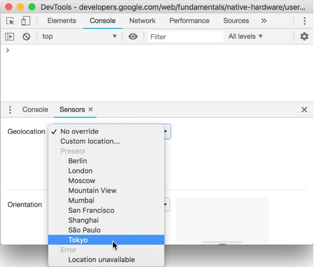 Geolocation in Chrome