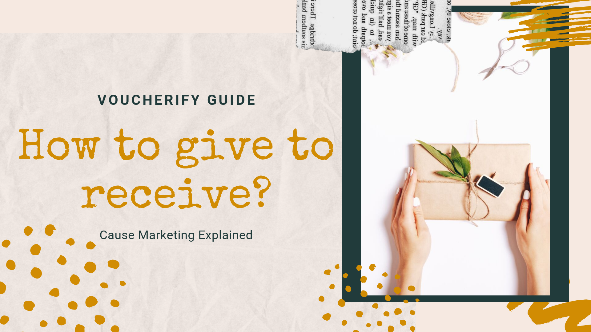 How to give to receive - a guide on cause related marketing