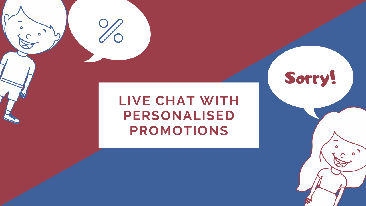 How to drive marketing ROI with live chat and 1:1 personalized promotions