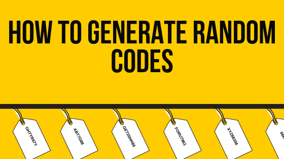 How to generate unique (random) coupon codes?