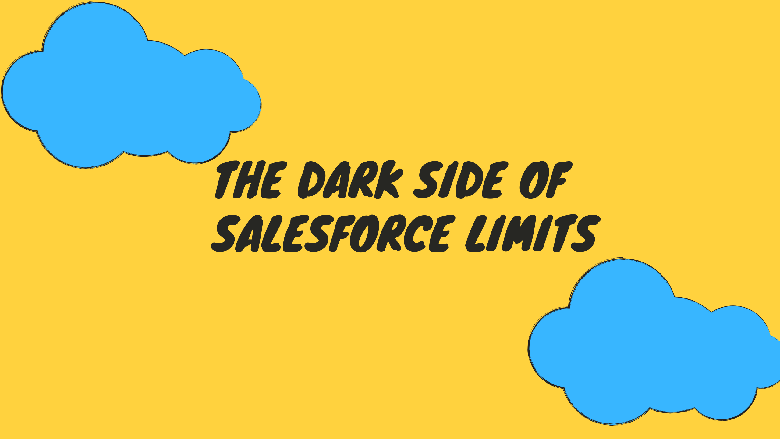 Create a successful online marketplace from scratch - the dark side of Salesforce limits