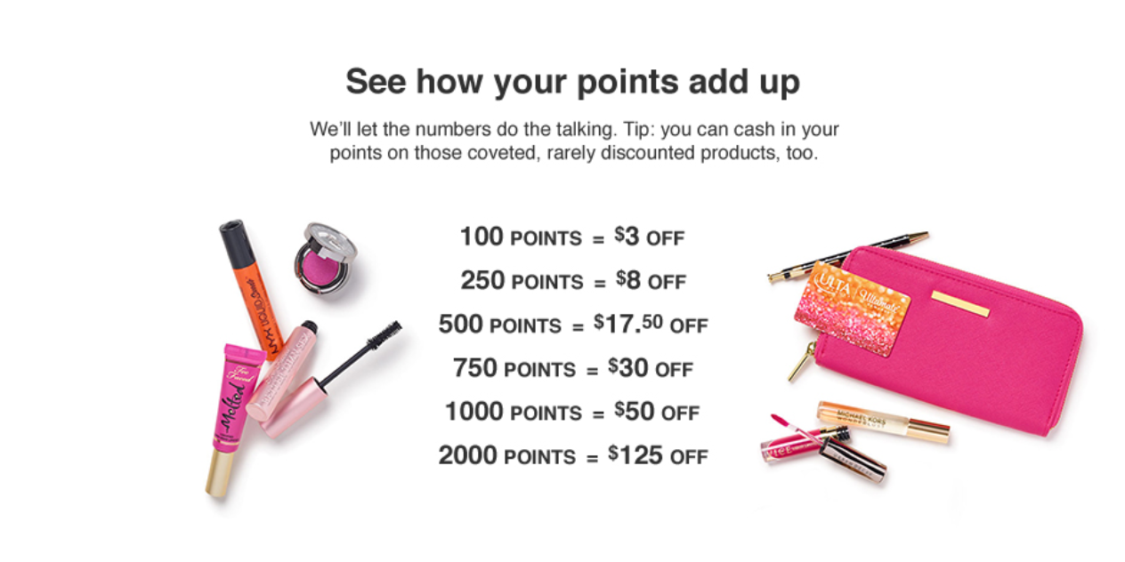 Ulta loyalty program - easy conversion rules as an incentive to join the loyalty program