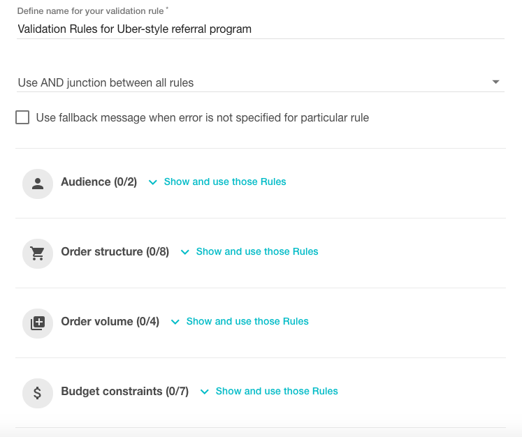 Validation rules for uber referral program