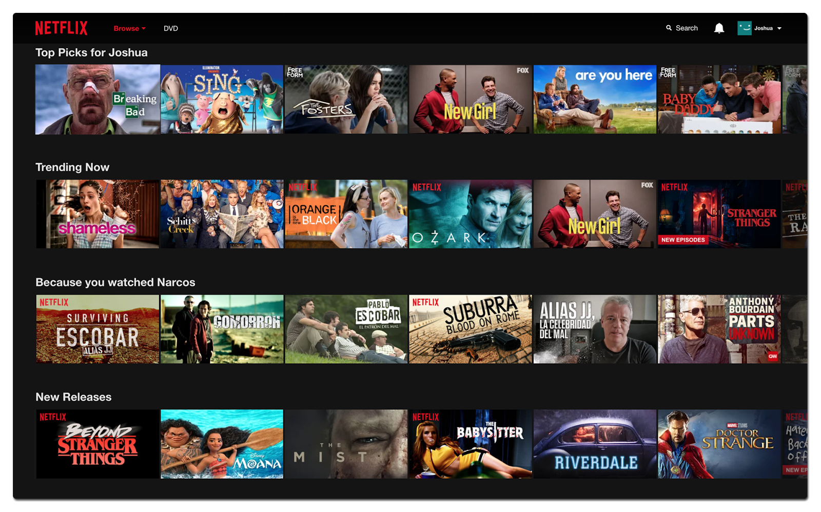 Netflix preferences screen - foot in the door technique in practice