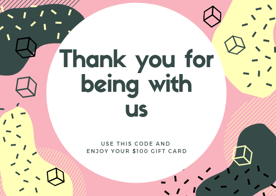 Example of a gift card campaign