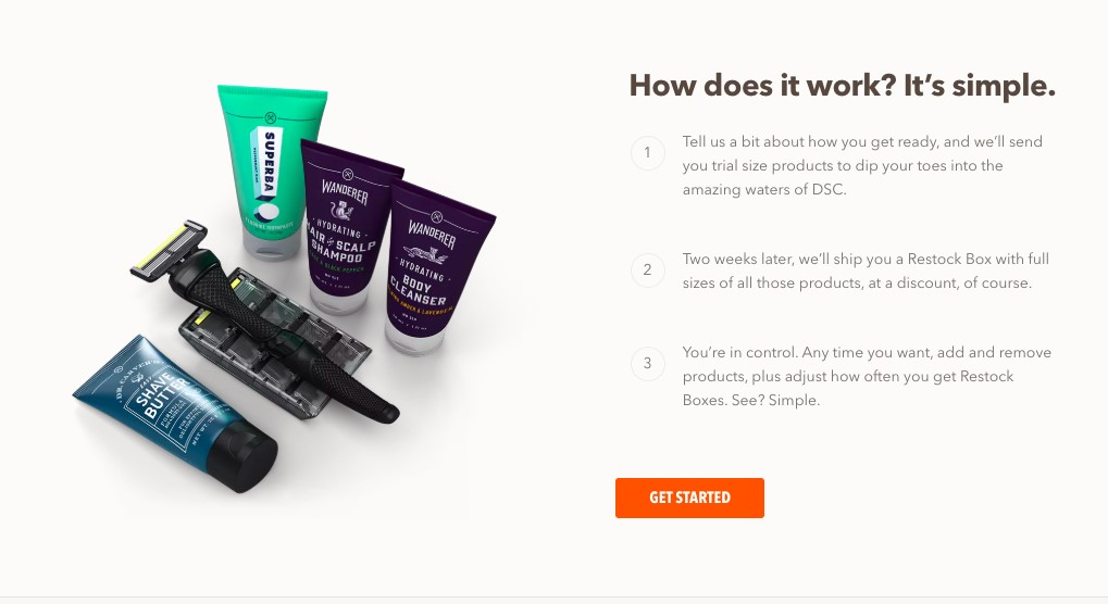 DollarShaveClub Free trials
