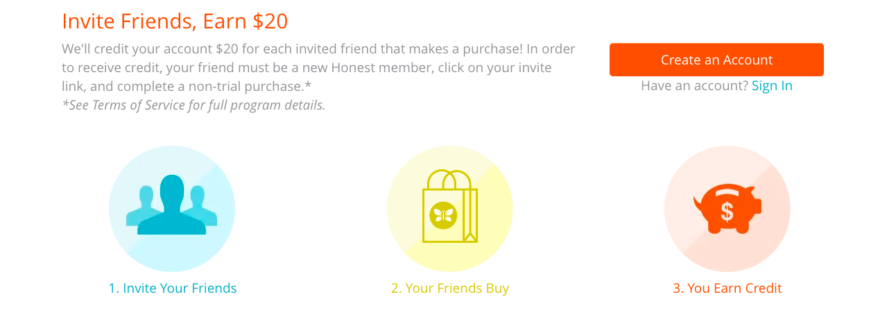 Honest referral program rules