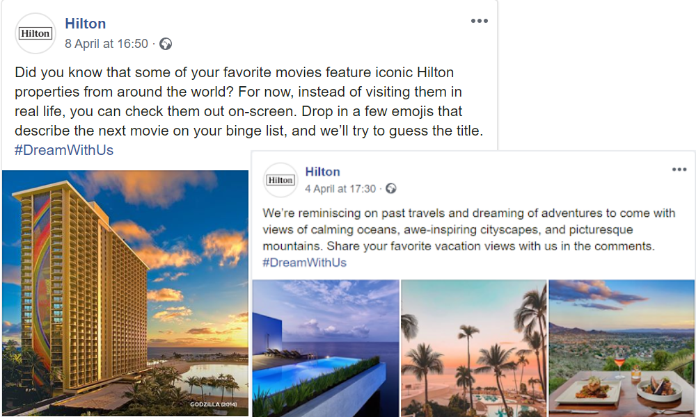 Hilton and covid-19 social media strategy