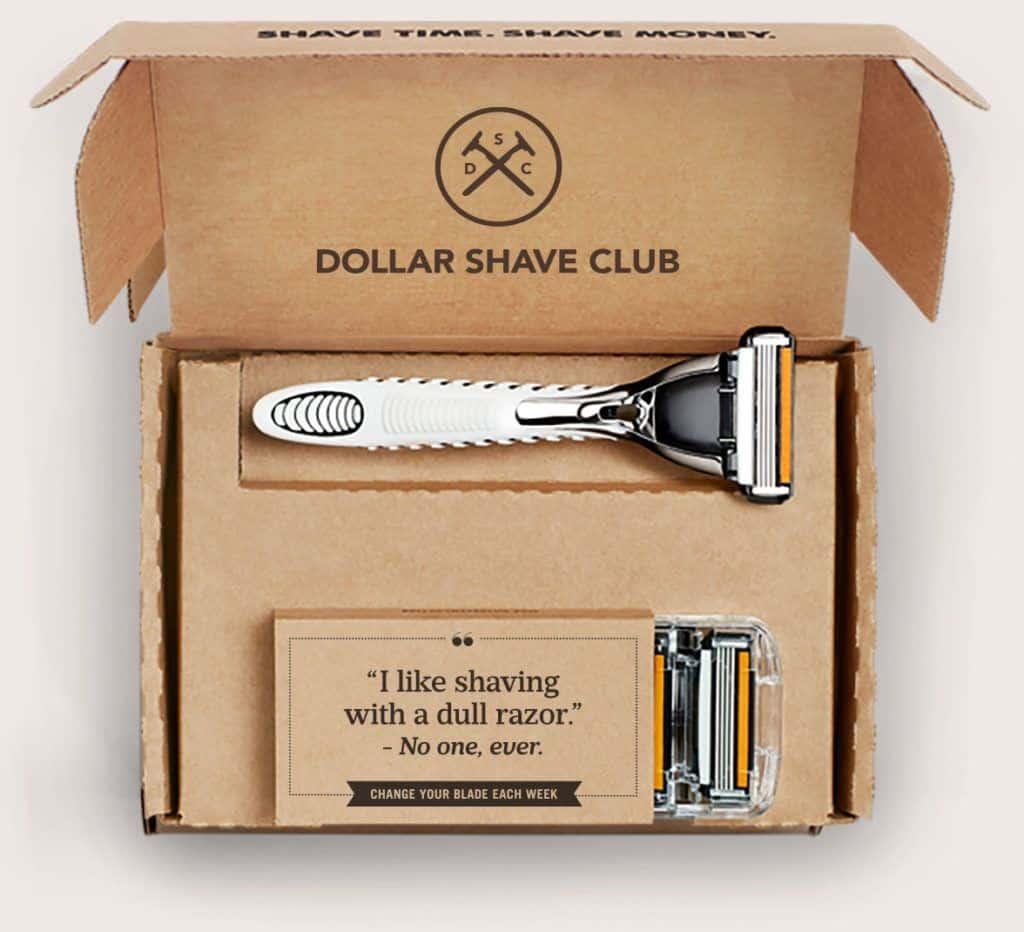 Dollar Shave Club Seasonal Promotion Subscription Box