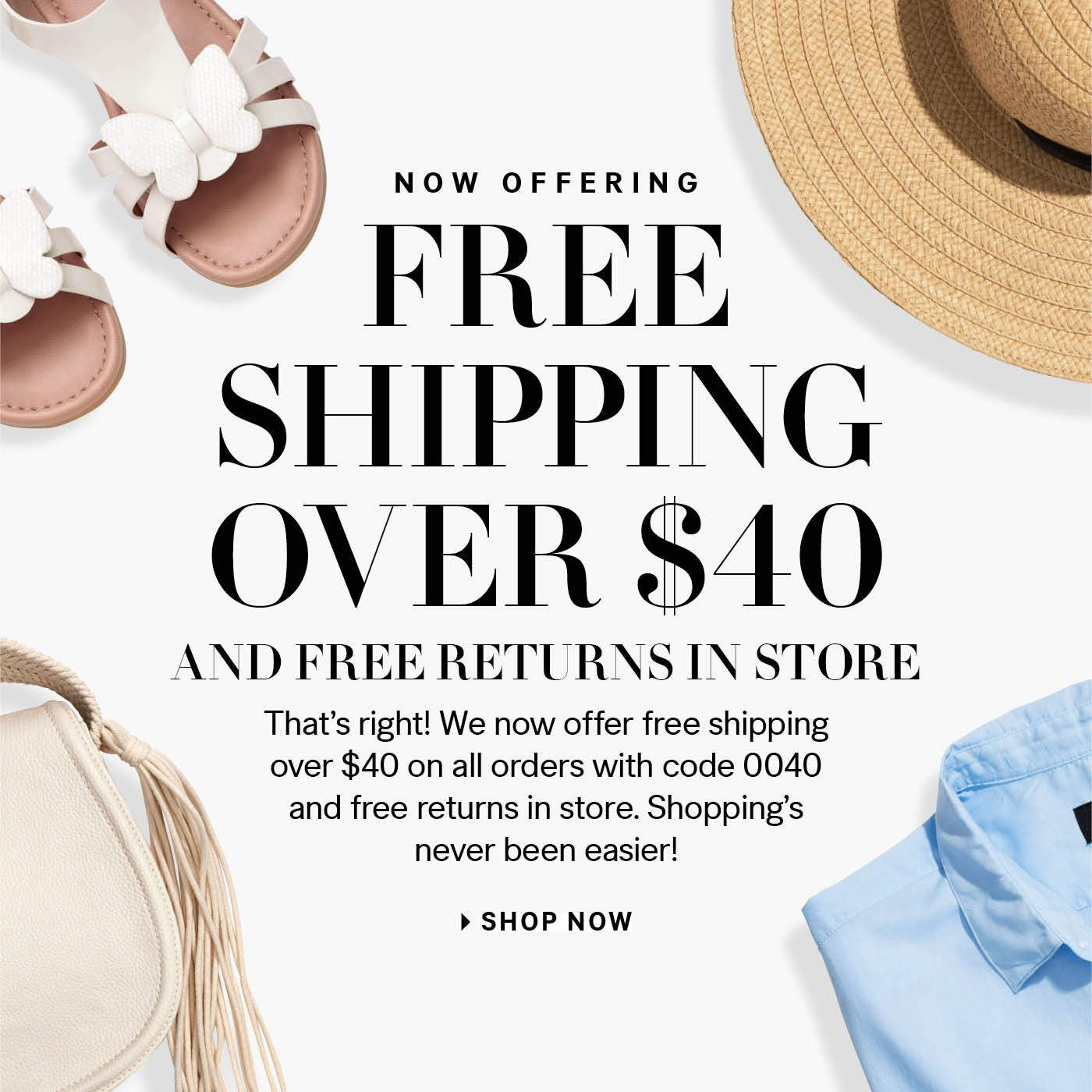 H&M free shipping campaign
