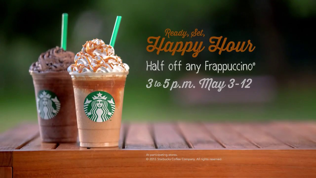 Starbucks happy hour campaign