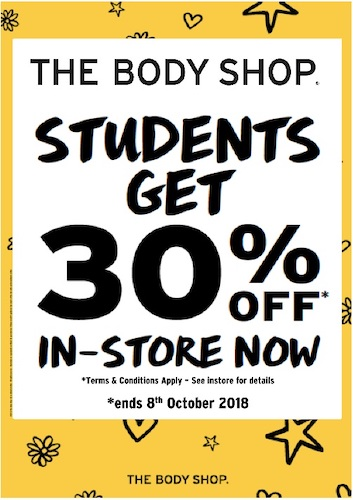 Example of a gated coupon by TheBodyShop