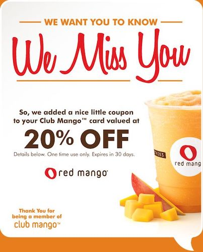 Example of we miss you coupon