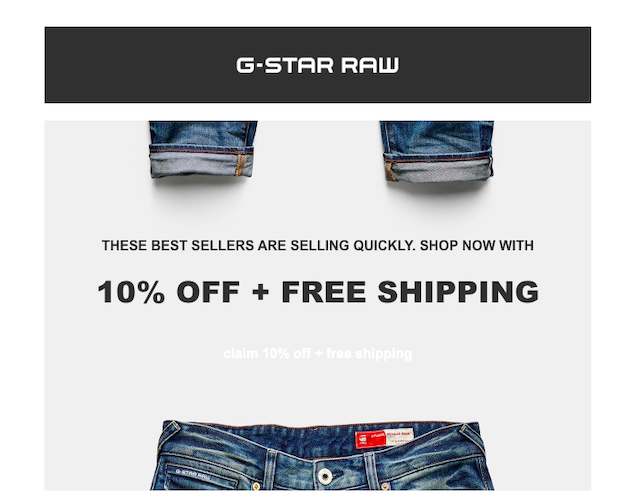 Free shipping coupon campaign