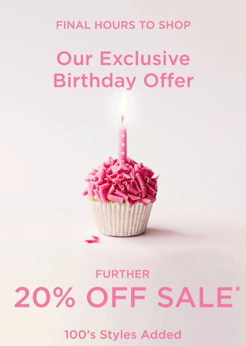 Birthday campaign
