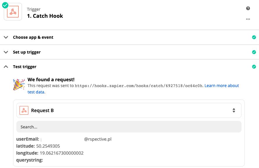 Test webhook