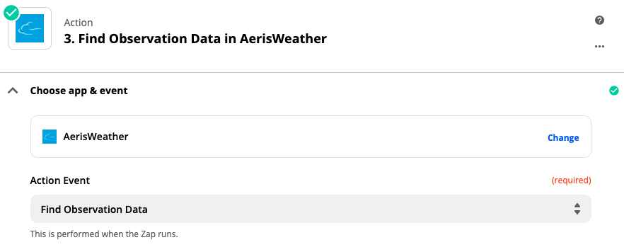 Aeris Weather set up