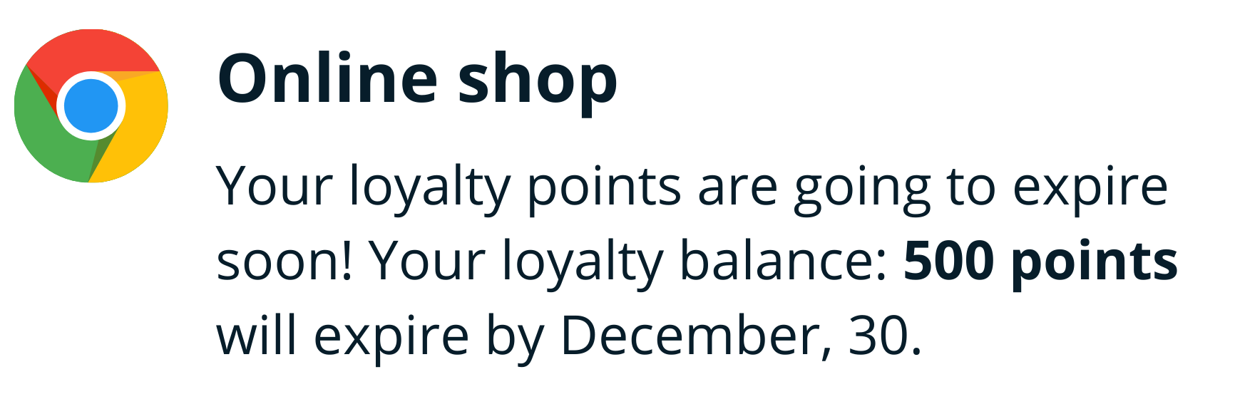 Smart loyalty notifications example