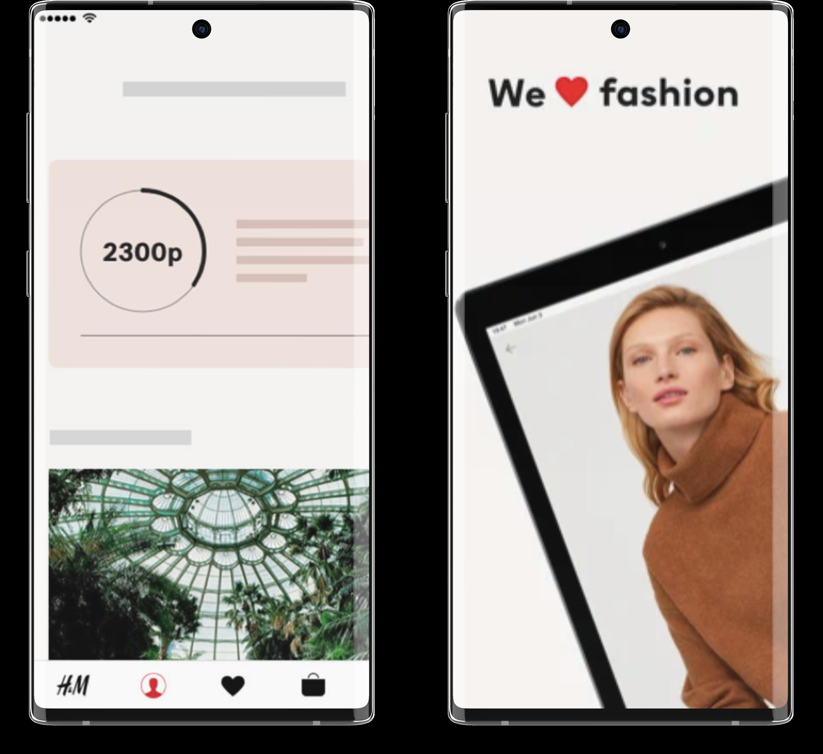 H&M loyalty program for mobile apps