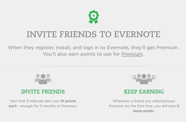 Evernote referral SaaS