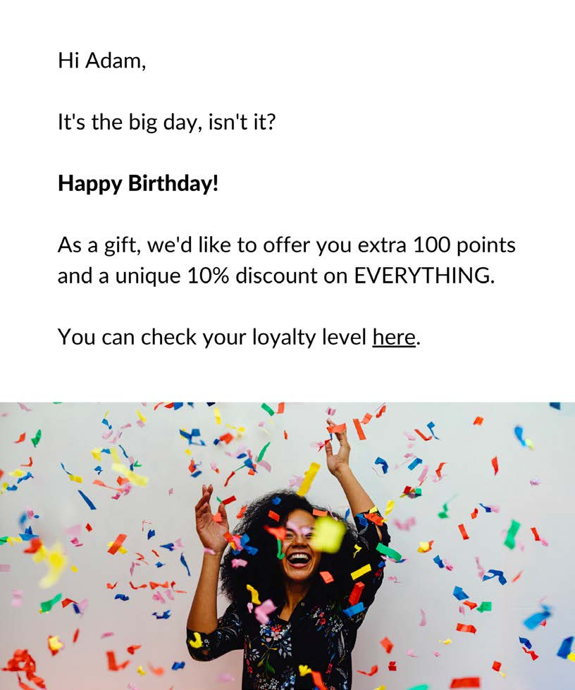 Original loyalty program example