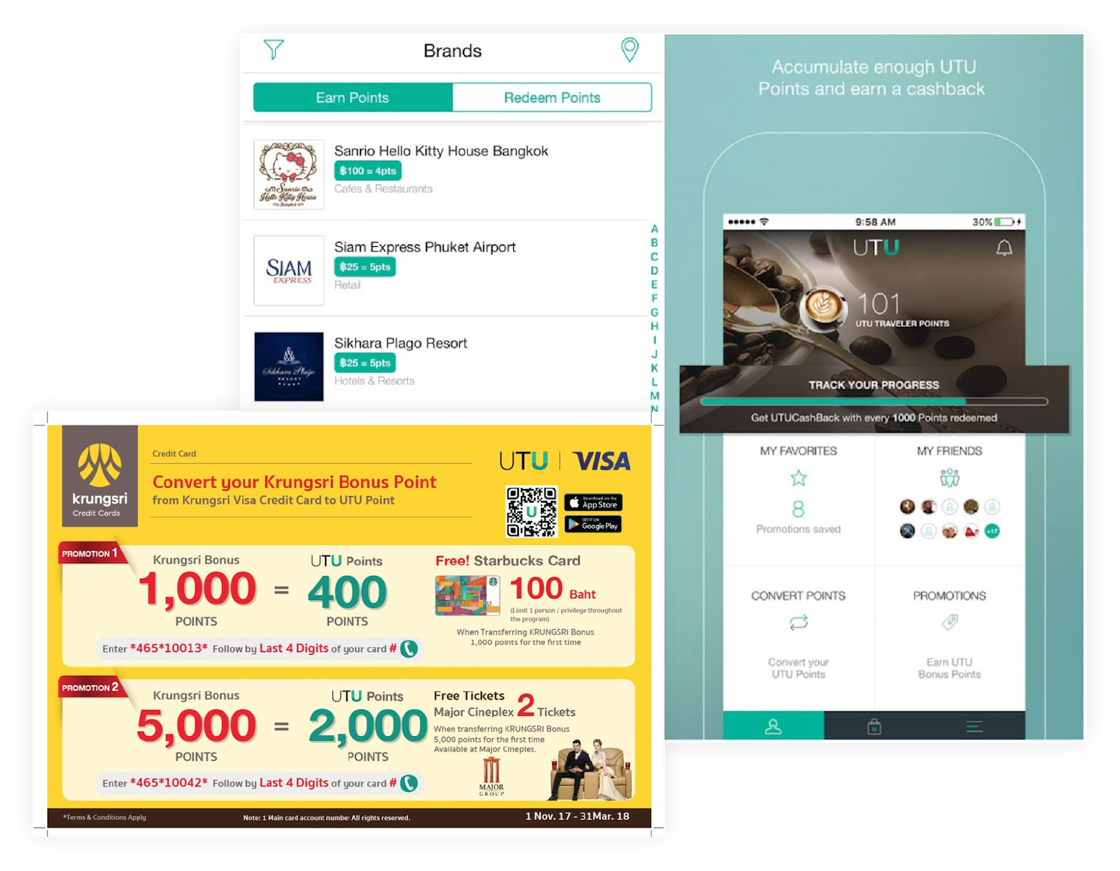 How UTU manages partners' promotions and loyalty programs?