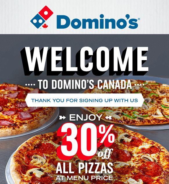 Dominos loyalty program onboarding email