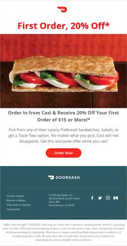 Doordash partner promotion