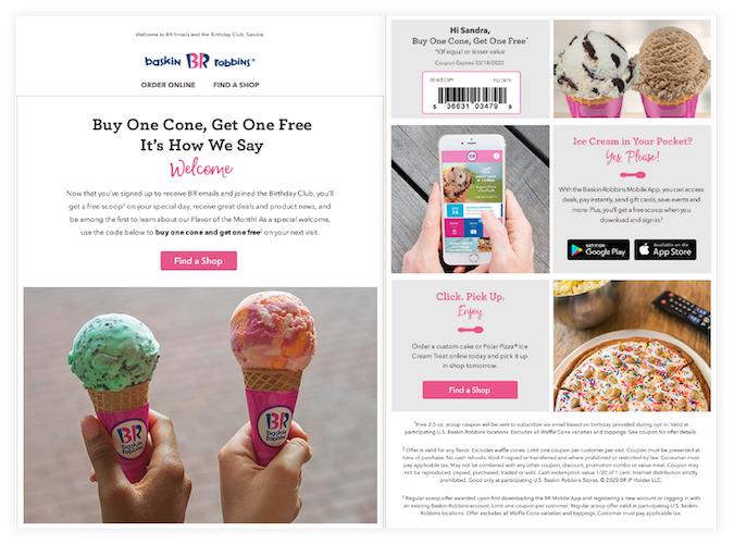Baskin Robbins promo campaigns
