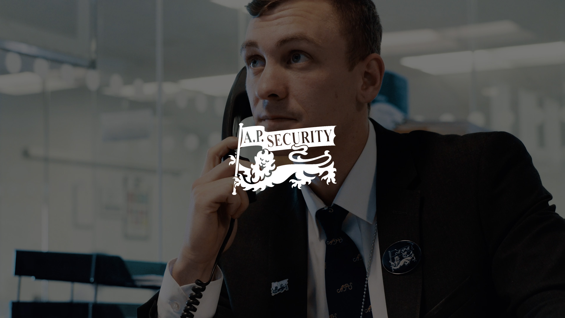 Image of a Security Man on the Phone