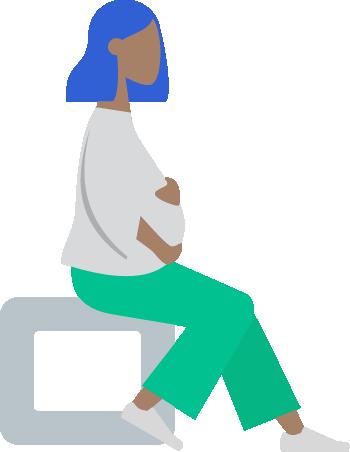Ilustracion de mujer embarazada